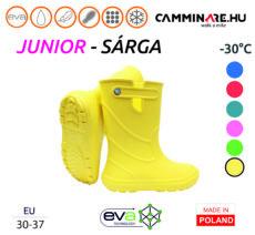 Camminare – Junior EVA gyerekcsizma SÁRGA (-30°C)