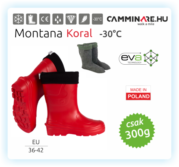 Camminare – Montana női EVA csizma Koral (-30°C)