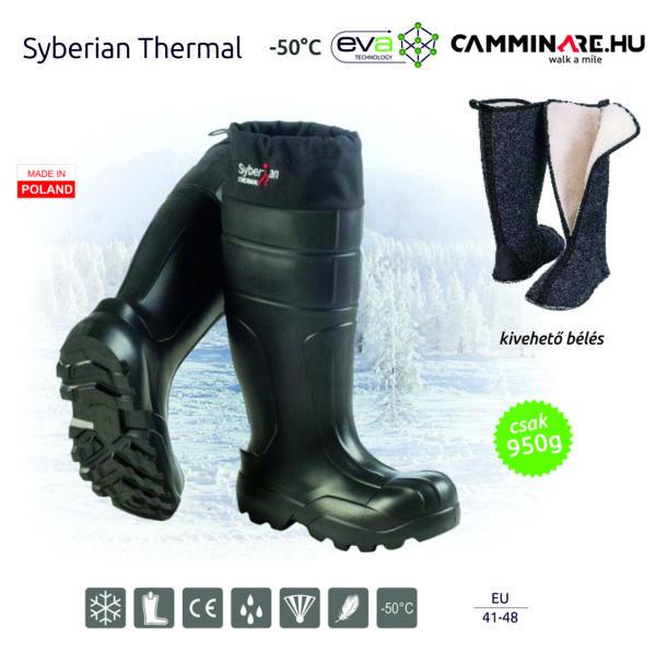 Camminare – Syberian Thermal EVA csizma FEKETE (-50°C)