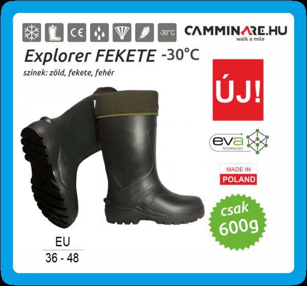 Camminare – Explorer EVA csizma FEKETE (-30°C)