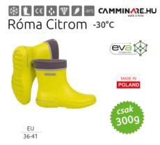 Camminare – Róma női EVA csizma Citrom (-30°C)